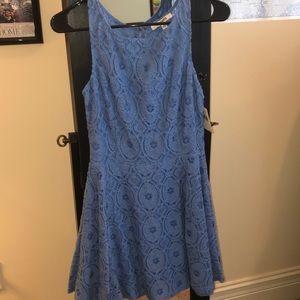 Light Blue Lace Dress.
